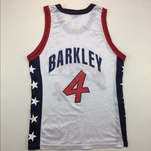 90s Vintage USA Dream Team Barkley Jersey 40